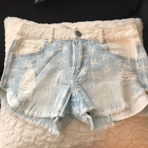 Tinsel Star Jean Shorts